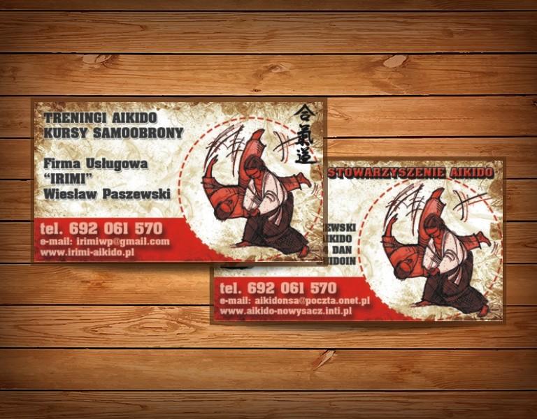 aikido druk wizytówek